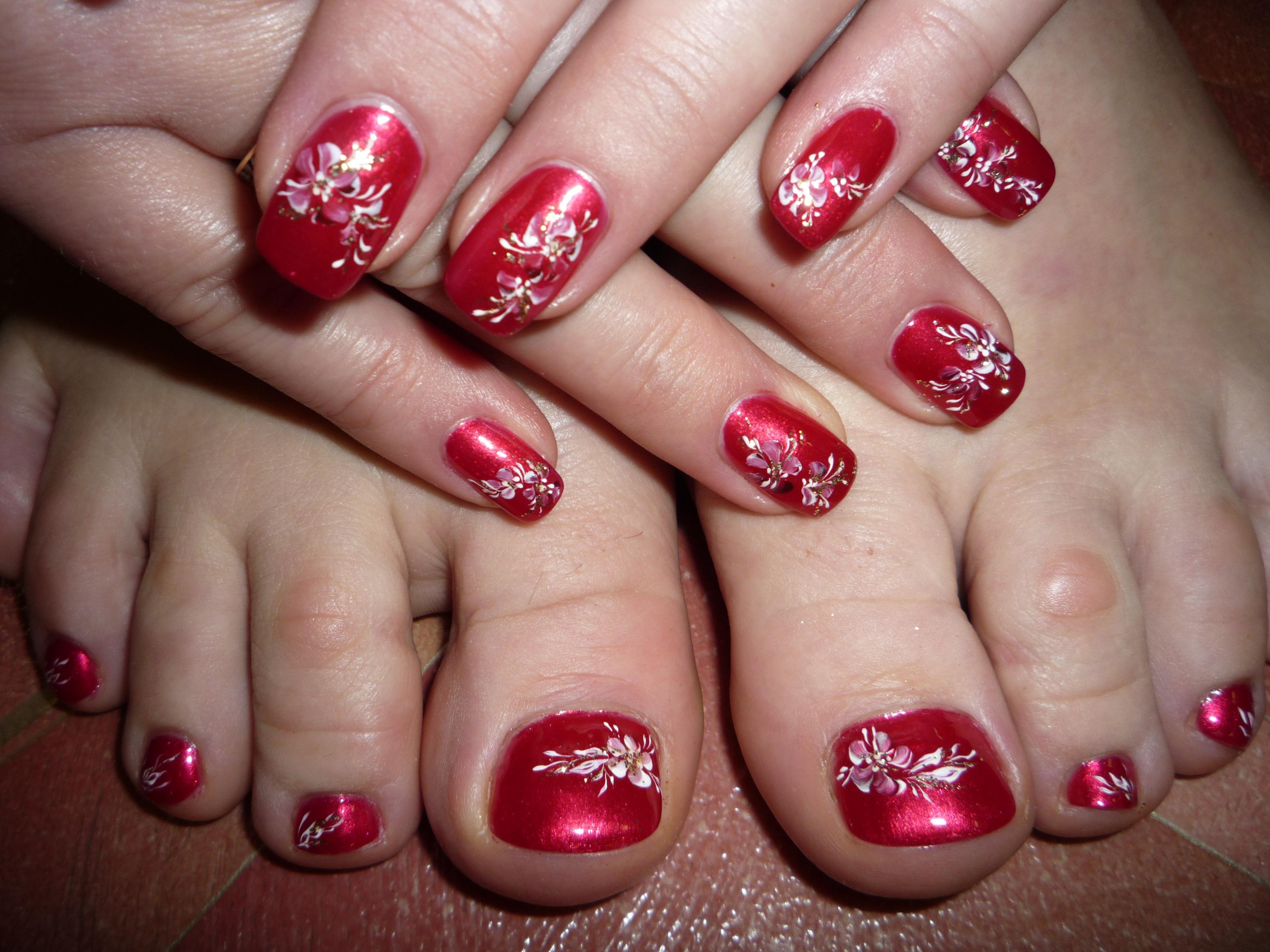 Китайская роспись ногтей на коротких ногтях