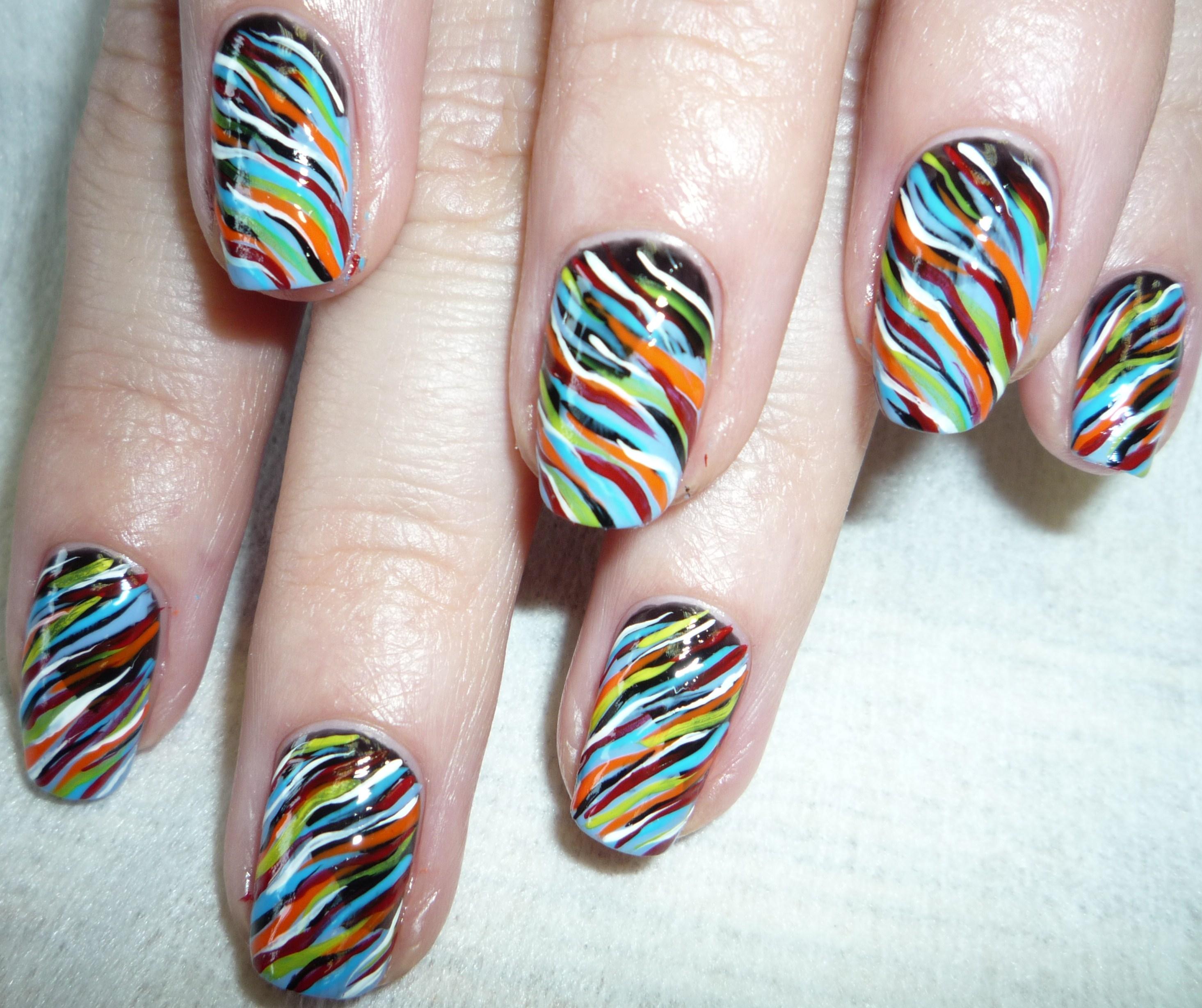 Ногти рисунки акриловыми красками фото